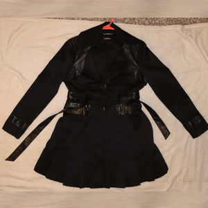Bebe Flare Jacket with belt - Faux Leather